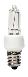 Satco T3 Dimmable Halogen Light Bulb with Candelabra Base SS4481