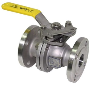 Apollo Conbraco 150 psi Stainless Steel Flanged Full Port Isolation Ball Valve with Lever Handle A87A20C01