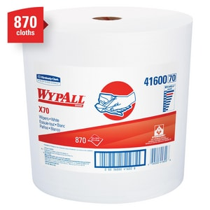 Kimberly Clark WypAll® X70 12-1/2 in. Jumbo Roll Wipes in White K41600