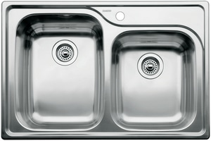 Blanco America Supreme™ 1-Hole 2-Bowl Drop-In Stainless Steel Kitchen Sink B440239