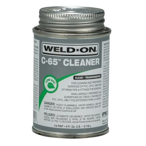 Weld-On PVC Cleaner in Clear I1020