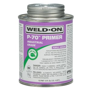 Weld-On 1/2 pt PVC Primer in Purple I10227