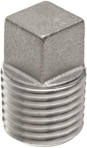 150# Threaded 304L Stainless Steel Square Plug IS4BSTSPSP114
