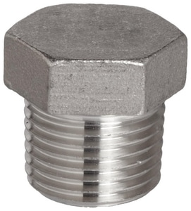 150# Threaded 316L Stainless Steel Global Hex Head Plug IS6CTHPSP114