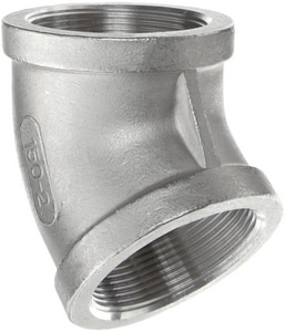 Threaded 150# 304 Stainless Steel 45 Degree Elbow IS4CT4SP114