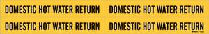 Brady Worldwide Vinyl Domestic Hot Water Return Pipe Marker B70884