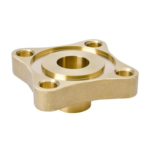 Mueller Industries Flared 4-Bolt Hole Brass Flange with Groove MA08261