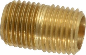 Couplings Company Close Brass Straight Nipple C112