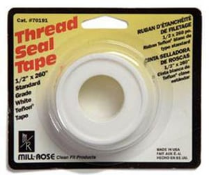 Mill-Rose 1/2 in. PTFE Tape in White MIL70202