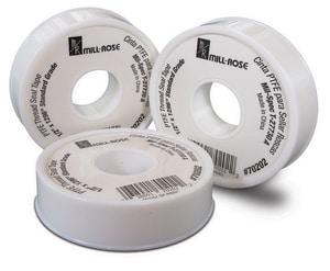Mill-Rose 1/2 in. Teflon Tape in White MIL70202