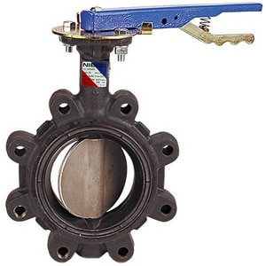Nibco LD-3222 Series Ductile Iron Fluoroelastomer Locking Lever Handle Butterfly Valve NLD32223