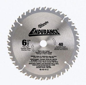 Milwaukee 6-1/2 in. Carbide Teeth Circular Saw Blade M48404112