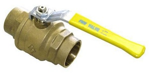 FNW DZR Brass Full Port Sweat 600# Ball Valve FNW421