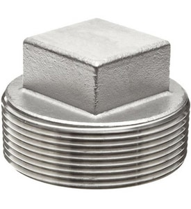 Threaded 1000# 316 Stainless Steel Square Plug IS6BSTSP1MSP114