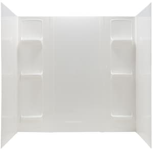E.L. Mustee & Sons Durawall® PVC 5 Panel Bath Wall Set in White M56WHT