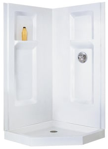 E.L. Mustee & Sons Durawall® 60 x 38 in. Tub and Shower in White M738CWHT