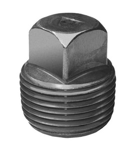 Threaded Black Steel Square Head Plug BSSP