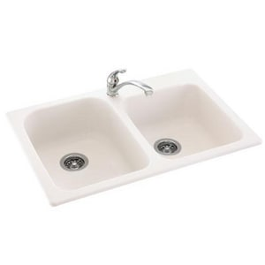 Swan Corporation 1-Hole 2-Bowl Kitchen Sink SKSDB3322