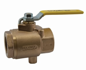 Apollo Conbraco 125psig 2-Piece Threaded Bronze Full Port Isolation Ball Valve with Lever Handle A7K1001