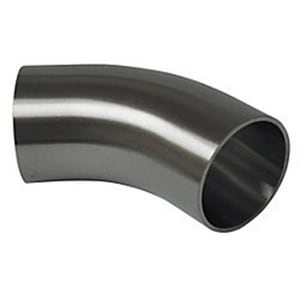 VNE Corporation Butt Weld 304L Stainless Steel 45 Degree Elbow VE2KS4