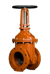 American Flow Control NSF Certified Ductile Iron Flange Open Left Outside Screw and Yoke Resilient Wedge Gate Valve AFC25OSYFFOL