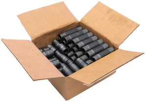 2 in. Threaded Extra Heavy Black Assorted Nipple 6 Pack BXAN6K