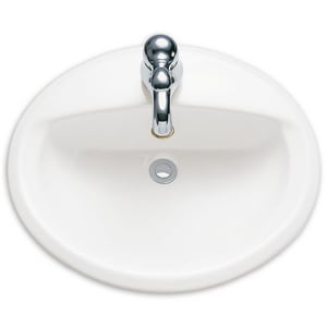 American Standard Aqualyn 174 3 Hole Drop In Countertop Oval