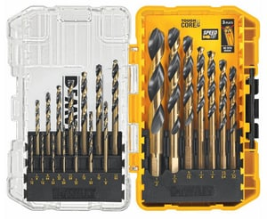 DEWALT 17-Piece 1/16 - 1/2 in. Black Oxide Drill Bit Set DDW1167