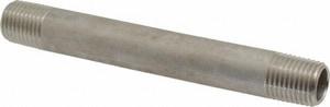 Merit Brass 1/4 in. MNPT Schedule 40 304L Stainless Steel Weld Threaded on End Nipple DS44NTOEB