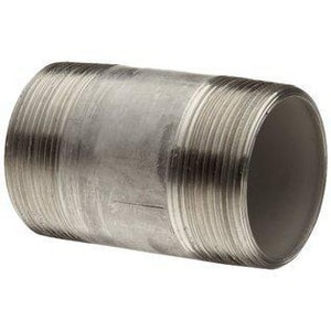 Merit Brass 1-1/4 in. Schedule 40 304L Stainless Steel Weld Threaded on End Nipple DS44NTOEHK
