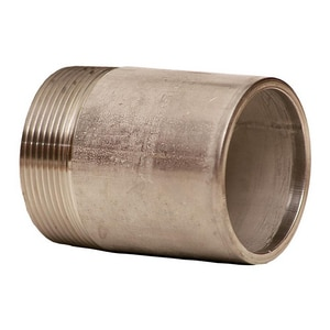Merit Brass 1-1/2 in. Threaded Schedule 40 304L Stainless Steel Weld on End Nipple DS44NTOEJ
