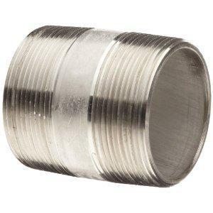 1-1/2 in. Schedule 80 304L Stainless Steel Threaded on End Seamless Nipple DS84SNTOEJL
