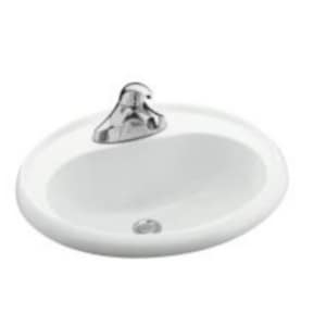 Sterling Plumbing Group 20 x 17 in. Drop-In Oval Lavatory with 4 in. Centerset Faucet Holes S75010140