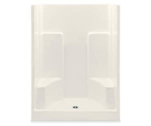 Aquatic Industries Everyday 60 x 35 in. Shower with Two Seats in Biscuit A1603SGBI