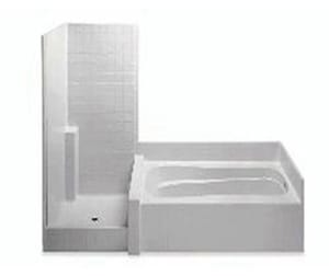 Aquatic Industries Everyday 42 x 114 in. Tub and Shower with Left Hand Drain in White A114HG2PLWH