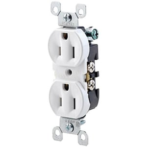 Motors & Armatures Duplex Receptacle in Ivory MAR84797