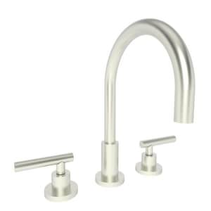 Newport Brass East Linear 3-Hole 1.2 gpm Widespread Lavatory Faucet with Double Lever Handle and 6-1/8 in. Spout Height N990L