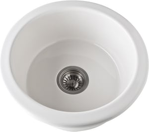 Rohl Shaws 18 in. Round Fireclay Sink R673768