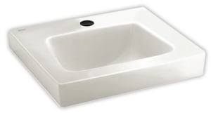 American Standard Roxalyn™ 20 x 18 Vitreous China Wall Mount Lavatory 4 in. Centers for Concealed Arms Support A0195073020