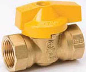 B & K Industries 7701G Forged Brass Threaded Lever Handle Gas Ball Valve B11052
