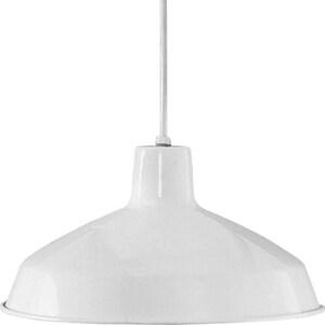 Progress Lighting 7-1/2 in. 150W 1-Light Pendant in White PP509430