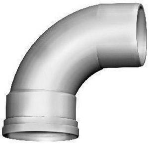 Gasket x Spigot Plastic 90 Degree Bend Elbow MUL06739