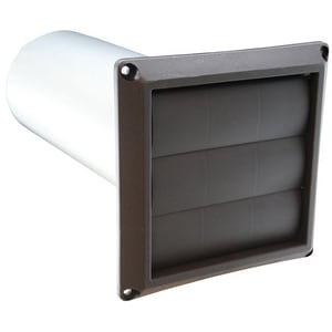 Jones Stephens Brown 4 in. Dryer Vent Hoods Louvered JD04026