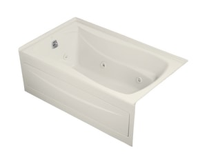 Kohler Mariposa® 60 x 36 in. Alcove Whirlpool Tub with Integral Apron Integral, Flange and Left Hand Drain K1239-LA