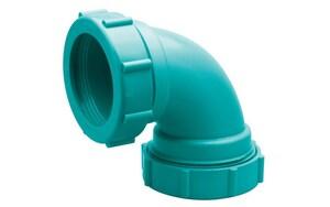 Zurn Corrosive Waste Drainage Mechanical Joint Plastic 90 Degree Elbow ZZ9AE90M