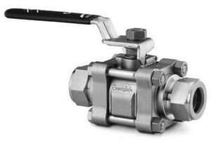 Swagelok 2500 psi Stainless Steel Ball Valve with Tube Fitting Connector SSS62TS6