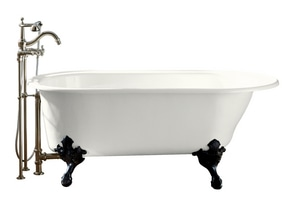 Kohler Iron Works® 66 x 36 in. Iron Works Historic Freestanding Oval Bath Tub with Reversible Drain in White K710-W-0