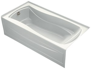 Kohler Mariposa® Acrylic 3-Wall Alcove Rectangle Bathtub with Left Drain K1259-LA