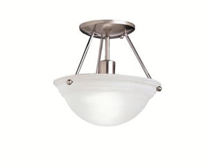 Kichler Lighting 100 W 1-Light Medium Ceiling Light in Brushed Nickel KK3121NI