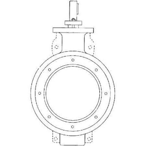 Crane Process Flow Technologies Flowseal® 8 in. 150 psi Carbon Steel RTFE Wafer High Performance Butterfly Valve Lever Operator F1WA121RTGHX